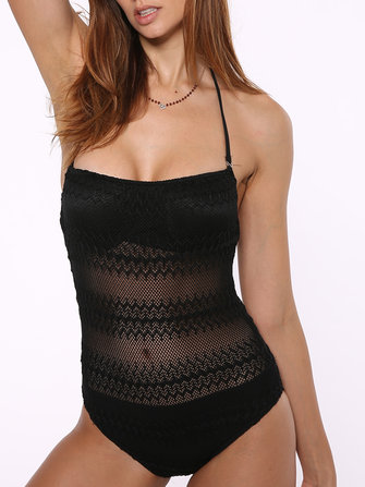 Soft Hollow Out Underwire Gather Woman Swimsuit