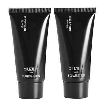 2pcs XIUZILM สิวหัวดำ หน้ากากจมูกหน้ากากทำความสะอาดผิว Pore Peel Off Remover Deep Cleaner
