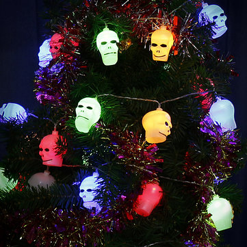 Halloween LED String Light Battery Operated Skull Decor 10-40 LEDS