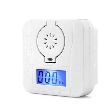 CO Carbon Monoxide Smoke Detector Alarm Poisoning Gas Warning Sensor