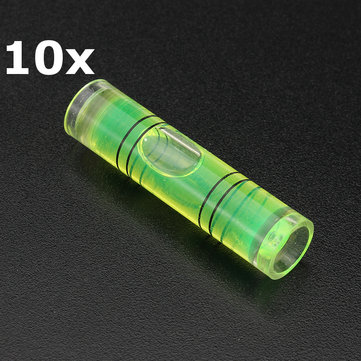 10Pcs Mini Level Gauge Cylinders Horizontal Bubble for Photo Frame Wal
