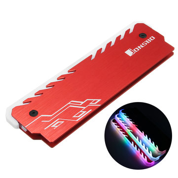 RGB Colorful Backlit Aluminium Magnesium Alloy Memory Cooling Clamp Heatsink
