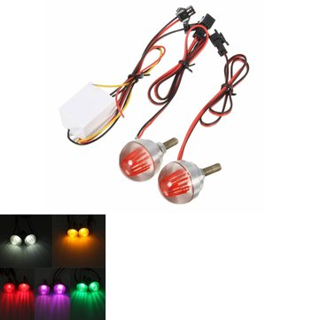 2PCS Motorcycle Motor Bike LED Strobe Flash Flashing Brake Tail Bulbs Lights Lamps