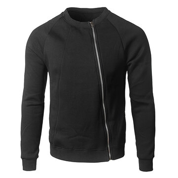 Mens Stitching Side Zipper Cardigans