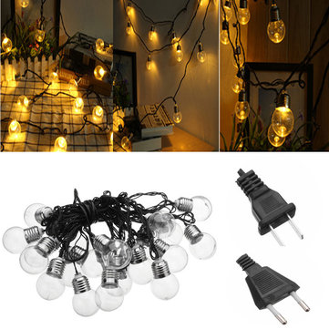 6M 20LEDs Ball Shaped Yellow Fairy String Light for Christmas Garden Party AC110V AC220V