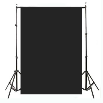 2.1x1.5m 5x7ft Plain Black Thin Vinyl Studio Backdrop Photography Prop Photo Background