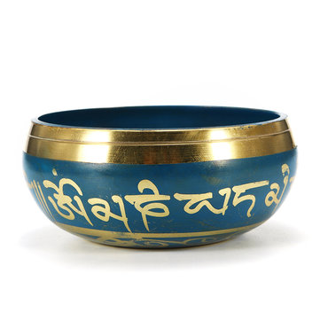 Buy 85mm Blue Tibetan Yoga Singing Bowl Buddhism Chime Resonance Meditation Chakara for $14.99 in Banggood store
