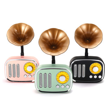 5W Phonograph Bluetooth Speaker Support AUX play TF Card Play FM Radio