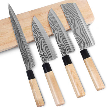 Minleaf ML-DK1 4 PCS Damascus Stainless Knives