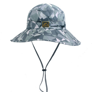 Men Women Summer Wide Brim Anti-UV Sun Hat Casual Outdoor Sunscreen Bucket Hat