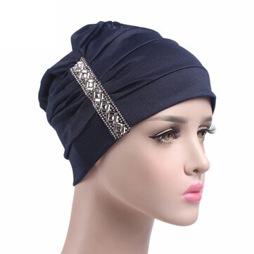 Chemo Cap Soft Muslem Ethnic Beanie Sleep Turban Hat