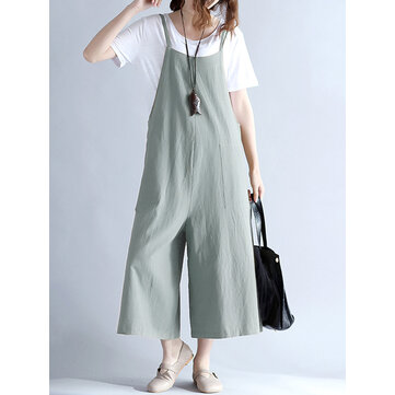 Casual Women Strap Pockets Overall Jumpsuit