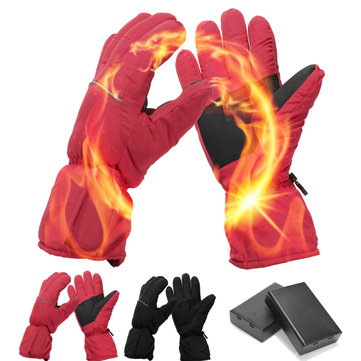 Waterproof Rechargeable Electric Battery Heated Gloves For Men Women Skiing Winter