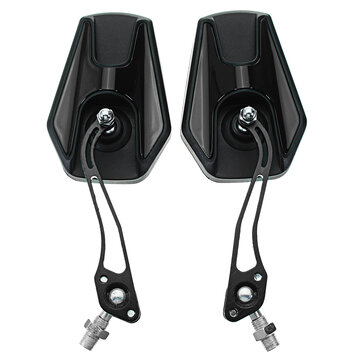 8mm 10mm Motorcycle Universal Rear View Side Mirrors Aluminum Alloy 5 Colors