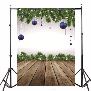 5x7ft Blue Balls Wood Floor Theme Photography Vinyl Backdrop Studio Background 2.1m x 1.5m