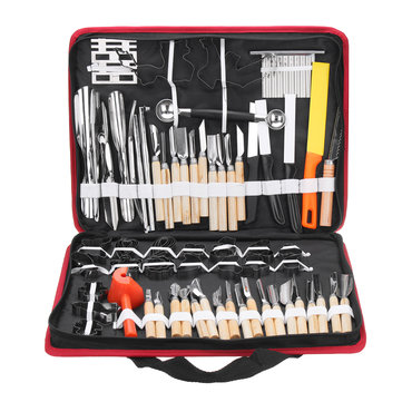 80Pcs Portable Carving Tool Vegetable Food Fruit Wood Box Carving Knife Set