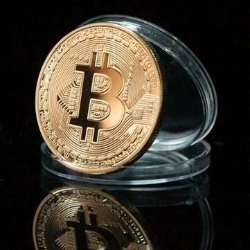 1 Unids Monedas Conmemorativas Modelo de Bitcoin de Oro BTC Decoraciones de Monedas de Metal