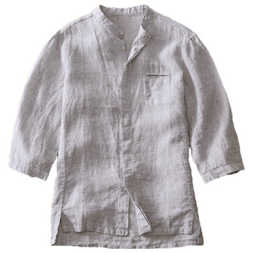 Mens Vintage Chinese Style Cotton Loose Comfy Casual Shirts