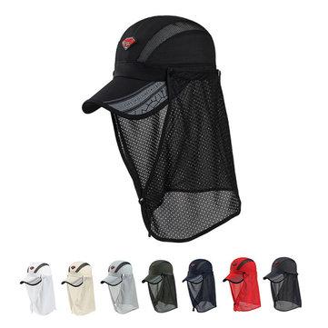 Mesh Anti-UV ประมง หมวกเบสบอลกันแดดหมวกบุรุษชุดว่ายน้ำเด็กผู้หญิงหมวกกันน็อกหน้าแบบป้องกันใบหน