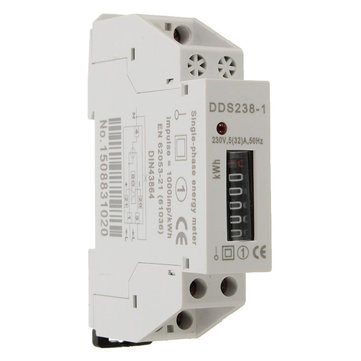 DDS238-1 230V Rail-Type Electronic Type Mini Electricity Meter Counter Display