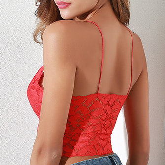Sexy Lace Suspenders Tube Bra In Tops Camisole Triangle Cup Bra