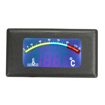DC9-36V LED Water Temp Gauge Tank Car Digital Thermometer Meter -10℃ ~100℃