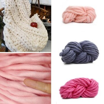 250g 16 Colors Super Thick Cotton Knitting Wool Yarn DIY Hat Scarf Sweater Yarn Ball