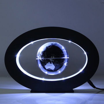 Magnetic Levitation Floating World Map Globe Desktop Rotating Planet Earth Globe Ball LED Light