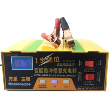 12V/24V 100AH Battery Charger Intelligent Acid Pulse Repair Type Lead Acid Lithium