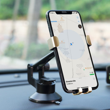 ROCK Car Phone Dashboard Gravity Holder Suction Cup Mount Car Auto Adjustable Mobile Bracket