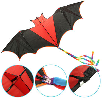 Buy 198CM 3D Huge Bats Kite Flying Single Line Bird Animal Kite Outdoor Sports Wind Kids Toys for $7.09 in Banggood store