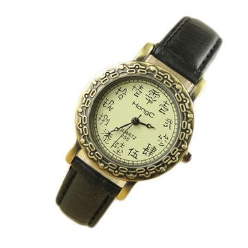 Hongc225 en cuir modèle vintage femmes élégantes oracle montre à quartz