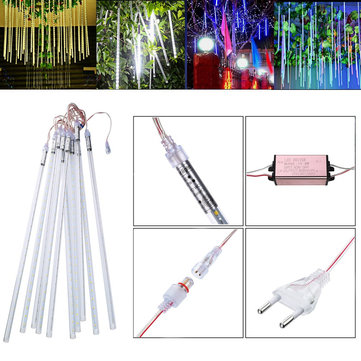 LUSTREON 50CM 7W SMD2835 Waterproof LED Meteor Snowfall String Tube Holiday Light AC85-265V