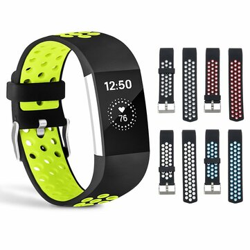 Replacement Soft Silicone Watch Strap For Fitbit Charge 2