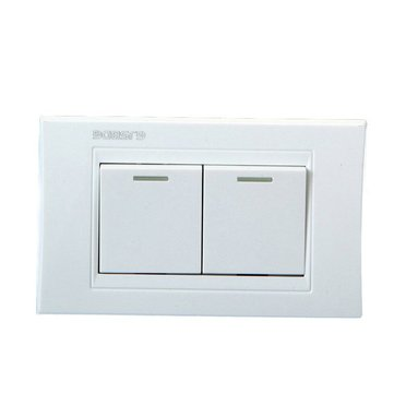 GJSBDG Wall Switch Panel Two Switch Bouble Control 250V 10A