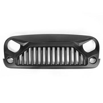 Front Hood Grille For Jeep Wrangler 07-17 JK V2