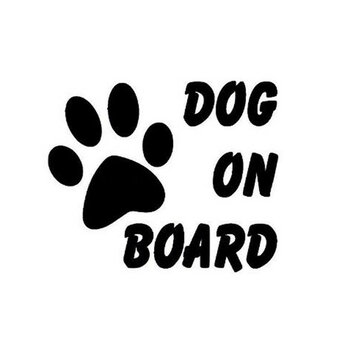 Dog On Board Car Stickers Auto Truck Vehicle Motorcycle Decal
