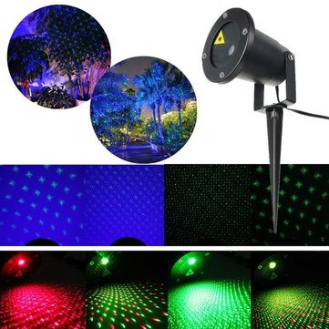 Outdoor Auto Laser LED Landscape Light Garden Path Projector Lamp