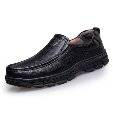 Big Size Men Formal Leather Oxfords Slip On Round Toe Shoes Soft Bottom Oxfords