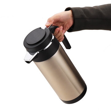 12V/24V 1200ml Car Electric Kettle Pot Stainless Steel Camping Travel Bottle Cup