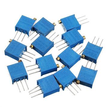 100R-1M 130pcs 13 Values 3296 Potentiometer Pack Adjustable Resistance Component Pack 10pcs Each Value