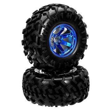 Smart Robot Car Accessories 130mm Diameter Blue/Silver Rubber Wheels Suit M4 Coupling