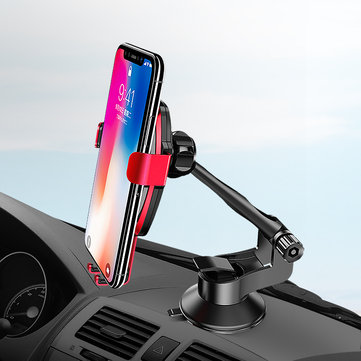 ROCK Qi Wireless Car Gravity Dashboard Phone Charger Holder Aluminium Alloy Stand Mounts for iPhone