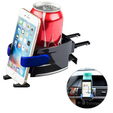 Multifunctional 360 Degree Rotation Car Air Vent Holder Phone Stand Drink Coffee Water Cup Bottle