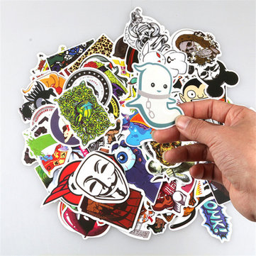 100Pcs 11 Different Sets Stickers Toys Cute Cartoon Style Super No Repeat For Car Laptop PVC Waterproof PVC DIY Car Stickers