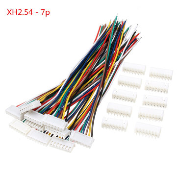 Excellway® 10 Sets Mini Micro JST XH2.54mm Connecteur 7 broches Connecteur Câble Câble 150mm
