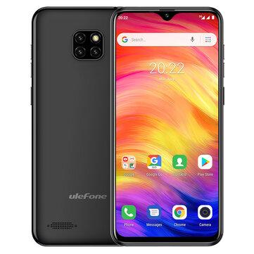 Ulefone Note 7 Triple trasera de 6.1 pulgadas Cámara 3500 mAh 1GB RAM 16GB ROM MT6580A Cuad núcleo 3G Smartphone