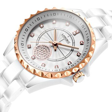 LONGBO 80027 Crystal Exquisite Dial Women Quartz Watch