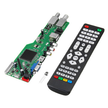 5 OSD Game RR52C.04A Support Digital Signal DVB-S2 DVB-C DVB-T2/T ATV Universal LCD Driver Board Dual USB Play Media With Remote