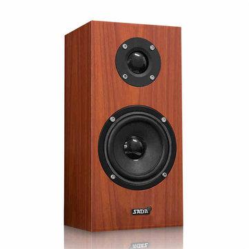 SADA V-180 3.5mm Wired Wooden Computer Speaker Single USB Supply Portable Bass Subwoofer Speaker